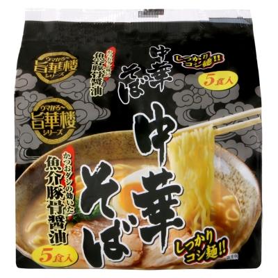 山本製粉 5入中華麵-魚介豚骨醬油(440g)