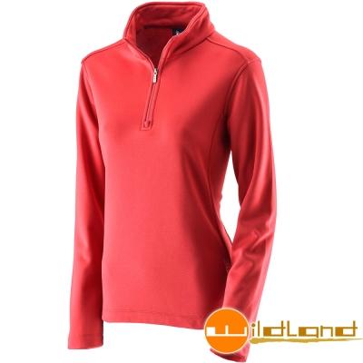 Wildland 荒野 0A22605-12暗紅色女 抗 菌除臭保暖上衣