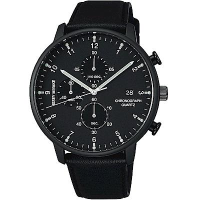 ISSEY MIYAKE 三宅一生C系列三眼計時腕錶(NYAD007Y)-黑框/42mm