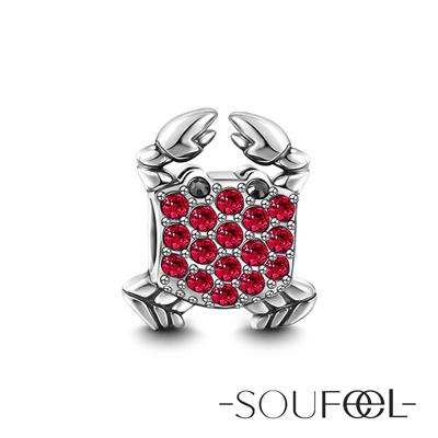 SOUFEEL索菲爾 925純銀珠飾 螃蟹 串珠
