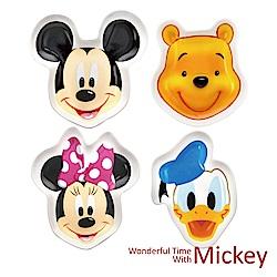 迪士尼Disney 可愛微笑造型陶瓷盤4入/組