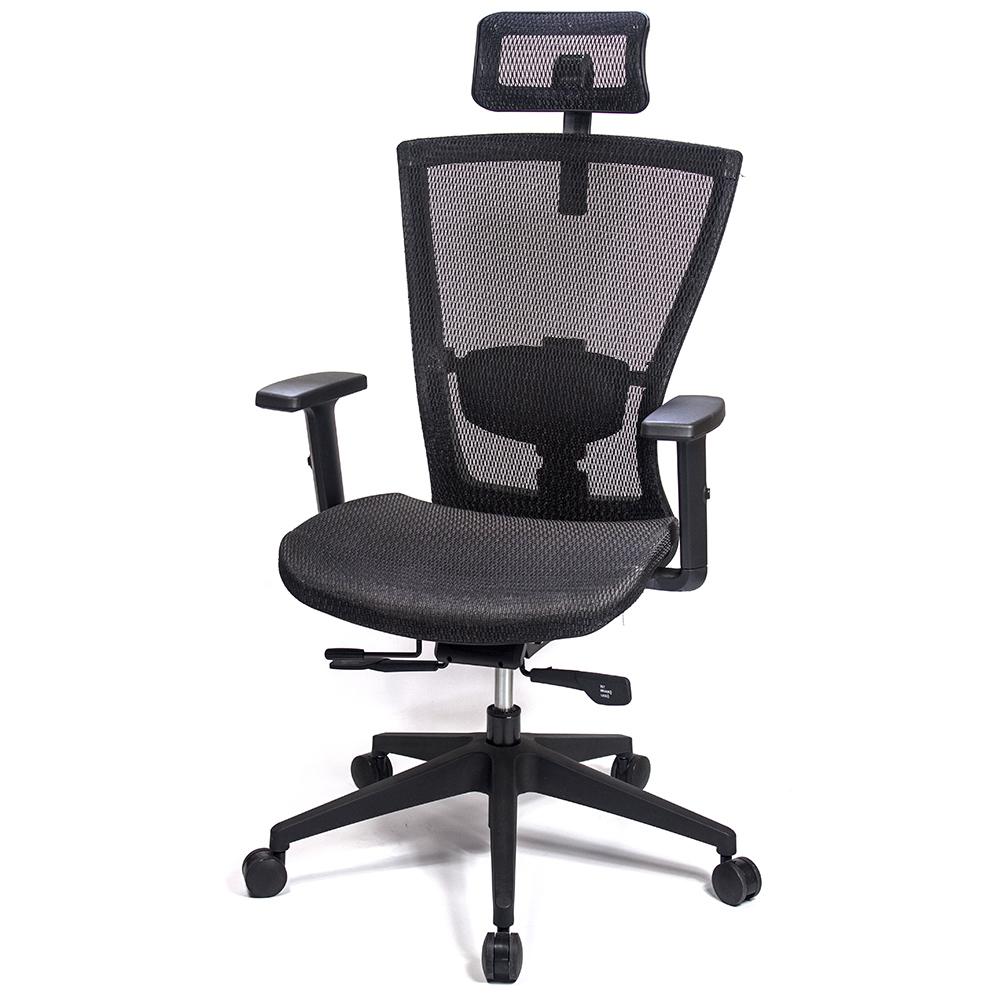 aaronation 愛倫國度 - 頂級高韌性高背頭枕T把手電腦椅