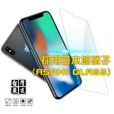 iPhoneX 非滿版疏水疏油超硬9H鋼化玻璃保護貼