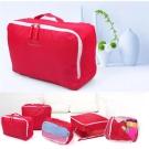 旅遊首選 五件組衣物收納包 手拎衣物收納袋 旅行袋