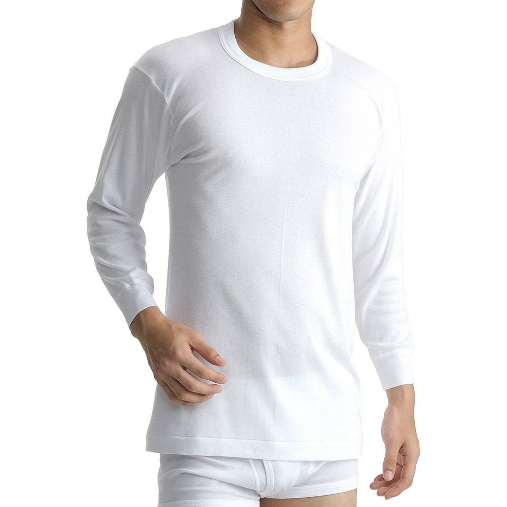 BVD 日本精紡交撚紗系列 圓領8分袖上衣 (白色)