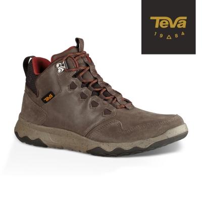 TEVA 美國-男 Arrowood Lux Mid 輕量防水機能休閒鞋 深灰