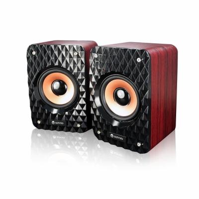 KINYO【音樂大師】USB木質立體擴大喇叭US178
