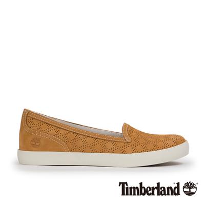 Timberland-女款小麥黃多孔內增高休閒便鞋