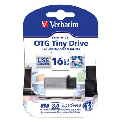 Verbatim 威寶 16GB OTG <b>3</b>.<b>0</b> TINY 雙介面手機平板高速隨身碟