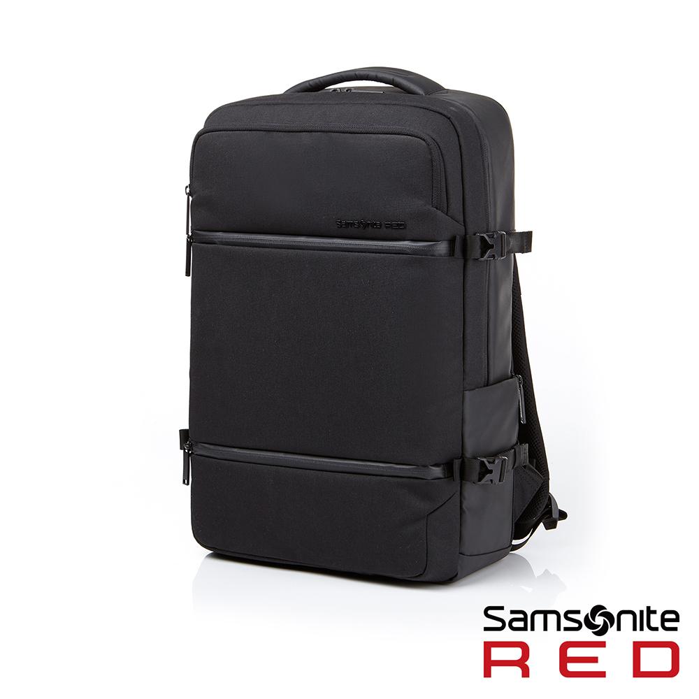 Samsonite RED CARITANI 隔層筆電後背包15吋(黑)