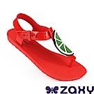 Zaxy 巴西 女水果樂園T字涼鞋-紅色