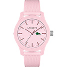 Lacoste 12.12系列撞色活力時尚腕錶-粉紅/43mm