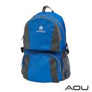AOU 商務旅行多層背包 輕量防潑水護脊紓壓機能後背包(天空藍)68-095