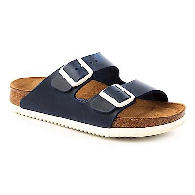 勃肯BIRKENSTOCK 230176。亞利桑那 經典二條拖鞋(深藍)