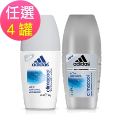 adidas愛迪達 動感香氛制汗爽身滾珠(男/女)任選4罐(40ml/罐)