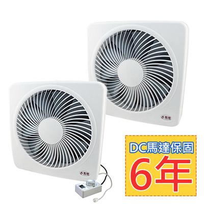 勳風12吋+14吋變頻DC節能吸排扇(HF-B7212+HF-B7214)-旋風防護網設計