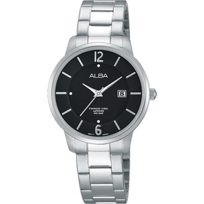 ALBA-日系簡約女錶-AH7G43X1-黑-30