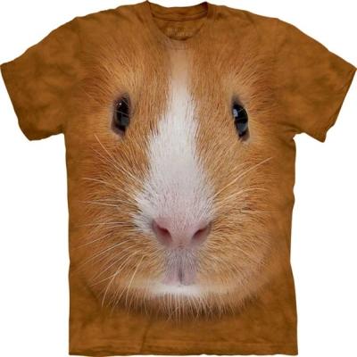 摩達客 美國進口The Mountain天竺鼠臉純棉短袖T恤