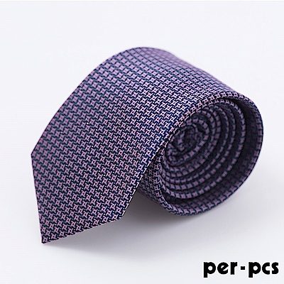 時尚紳士雅痞領帶_藍紫格(718010)