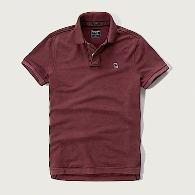 AF a&f Abercrombie & Fitch POLO 紅色 0771