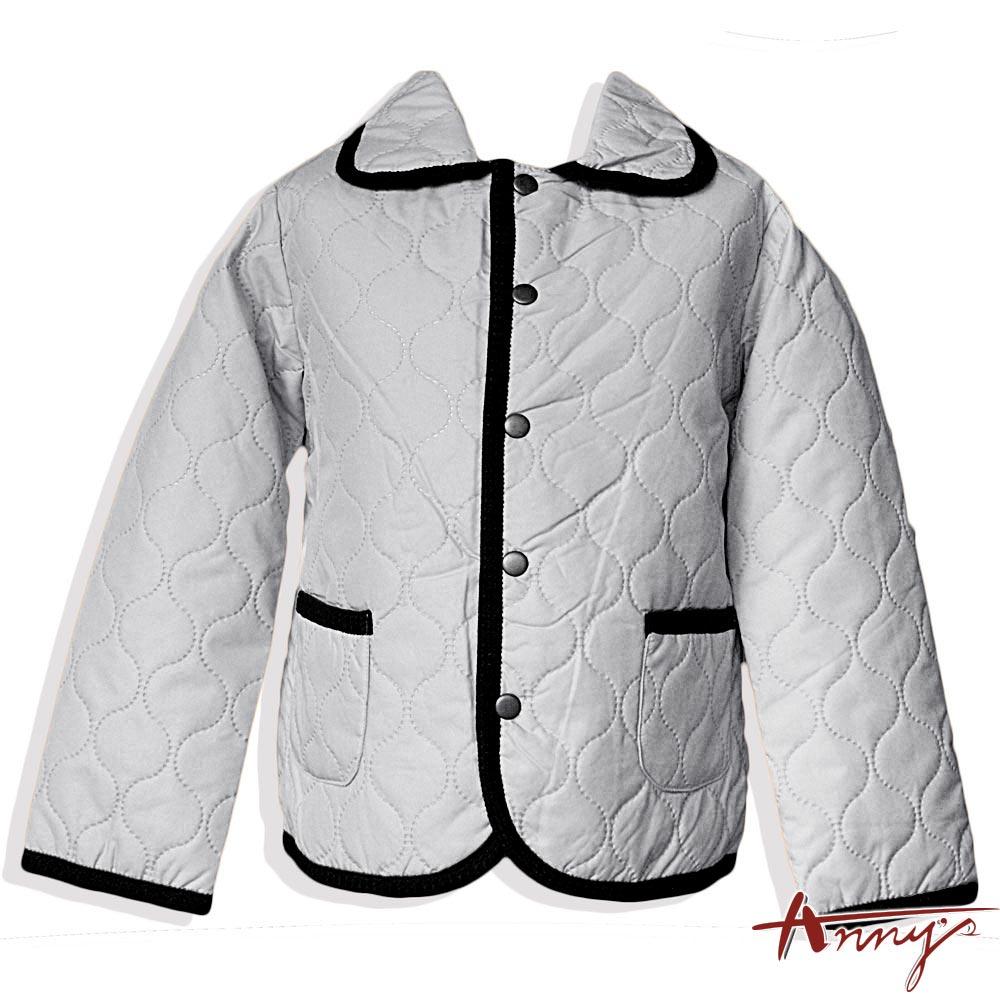 Anny經典素面雙口袋鋪棉外套*8439灰