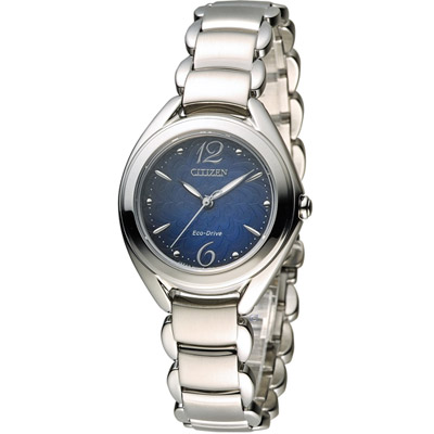 CITIZEN 星辰L系列 花舞漾動時尚腕錶(FE2070-50L)-藍/31mm