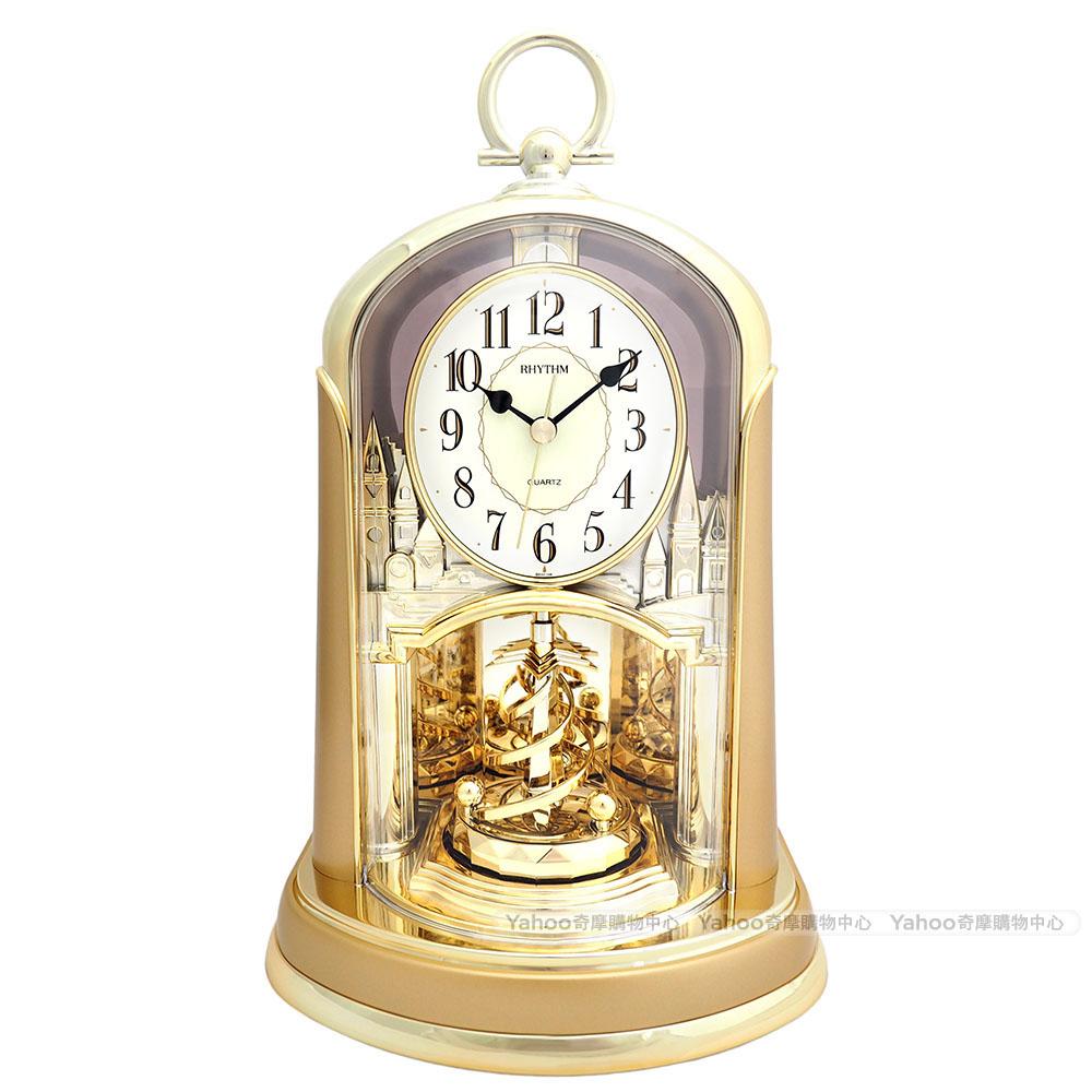 RHYTHM日本麗聲 宮廷之華圓舞曲裝飾座鐘(耀金)/24cm