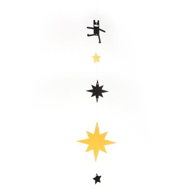 忍者兔DIY紙型掛飾-星光兔