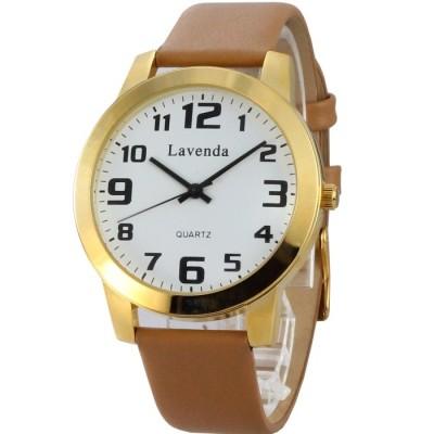 Lavenda 優雅時光女腕錶-白x金色框/40mm