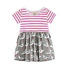 歐美春夏純棉兒童短袖洋裝-和平鴿