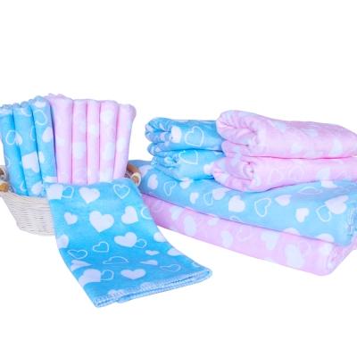 加厚超細超吸水棉柔印花小方巾4條+毛巾2條+浴巾2條
