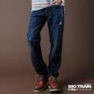 BIG TRAIN-街頭火焰垮褲-中藍