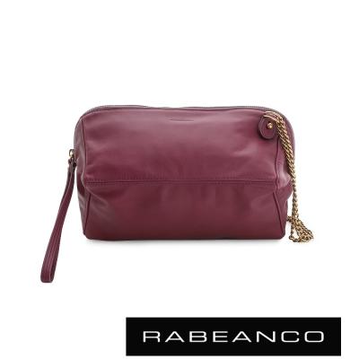 RABEANCO-心系列菱型多WAY鍊帶包-酒紅