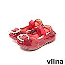 viina-親子鞋系列-C型珍珠摺疊鞋(童)-酒紅色