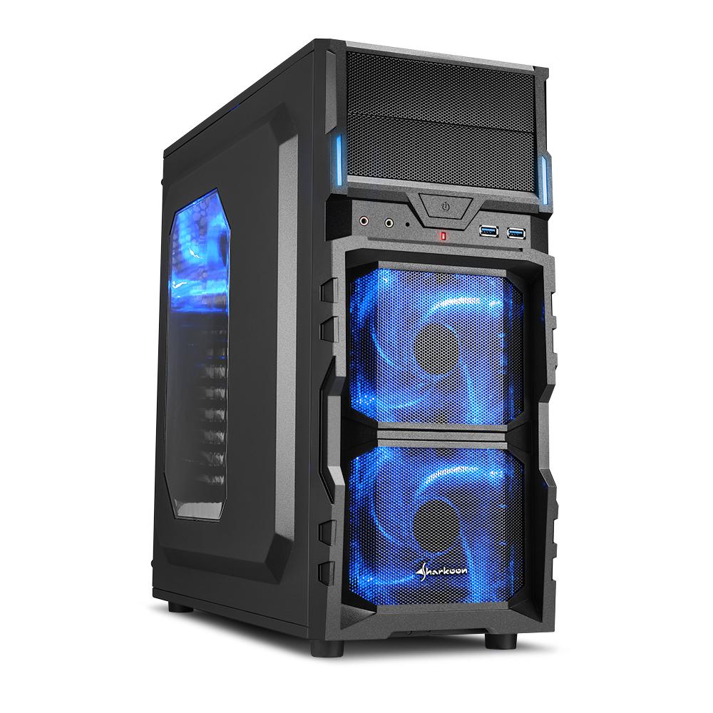 旋剛 勁風者 電腦機殼(藍光)