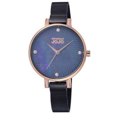 NATURALLY JOJO晶鑽米蘭魅力腕錶-JO96925-88F