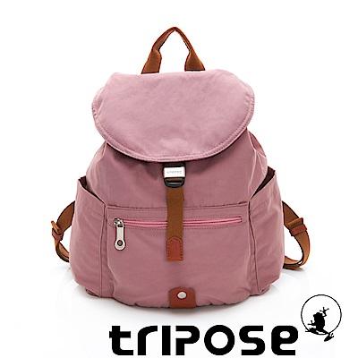 tripose MEMENTO系列微皺尼龍輕量防潑水後背包-小 紫丁香