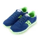 (女) 美國 SAUCONY 經典時尚休閒輕量慢跑球鞋-藍綠