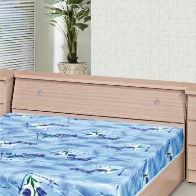 品家居 森木5尺木紋雙人床頭箱(六色可選)-154x30x76cm免組