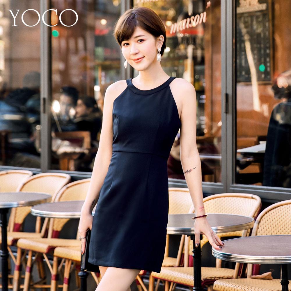 東京著衣-yoco 安琪聯名法式優雅削肩連身裙洋裝-XS.S.M.L(共一色)