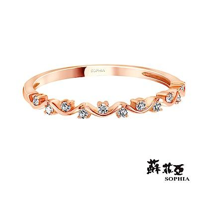 蘇菲亞SOPHIA - 星願玫瑰金鑽石線戒