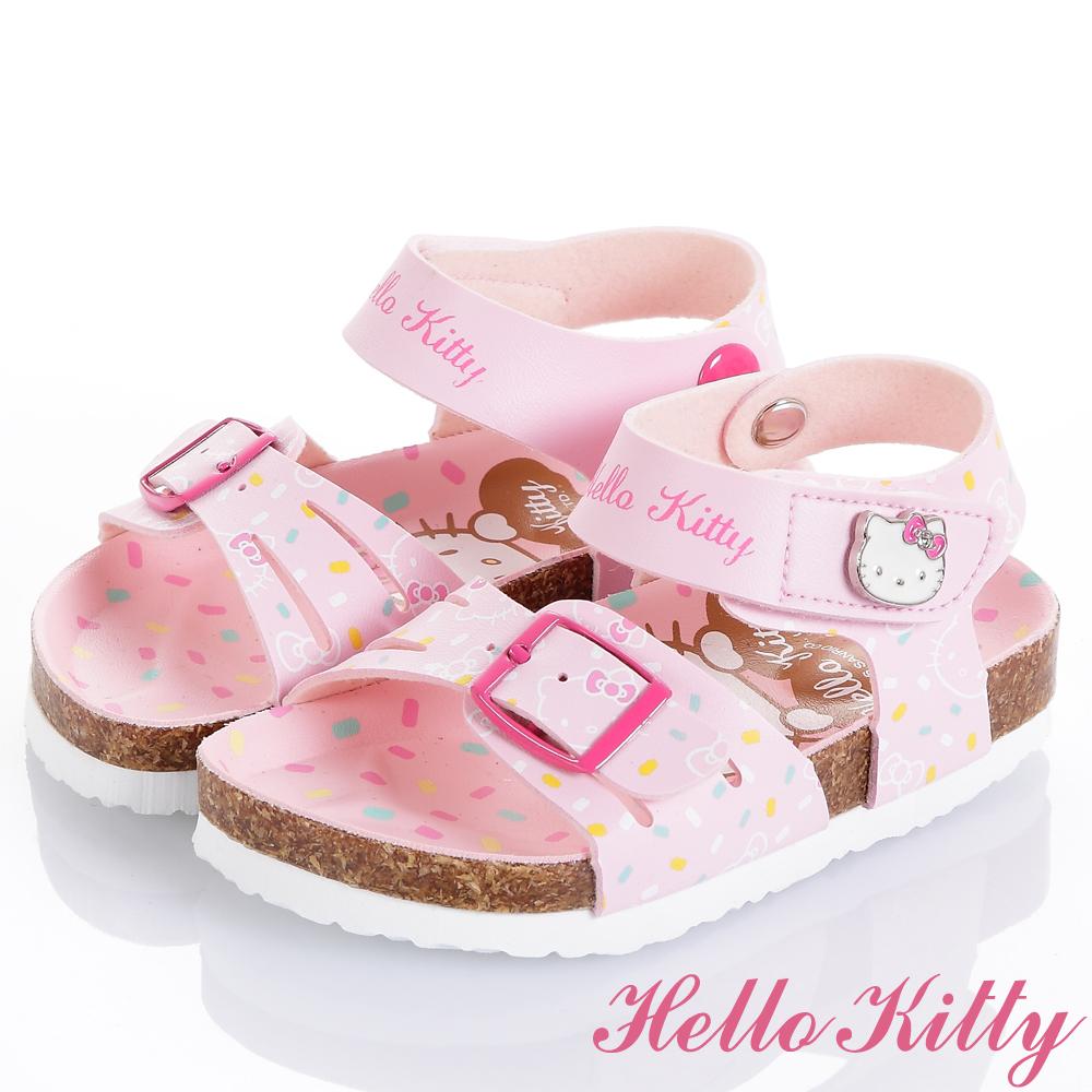 HelloKitty 巧克力米舒適減壓腳床型涼鞋童鞋-粉(中小童)