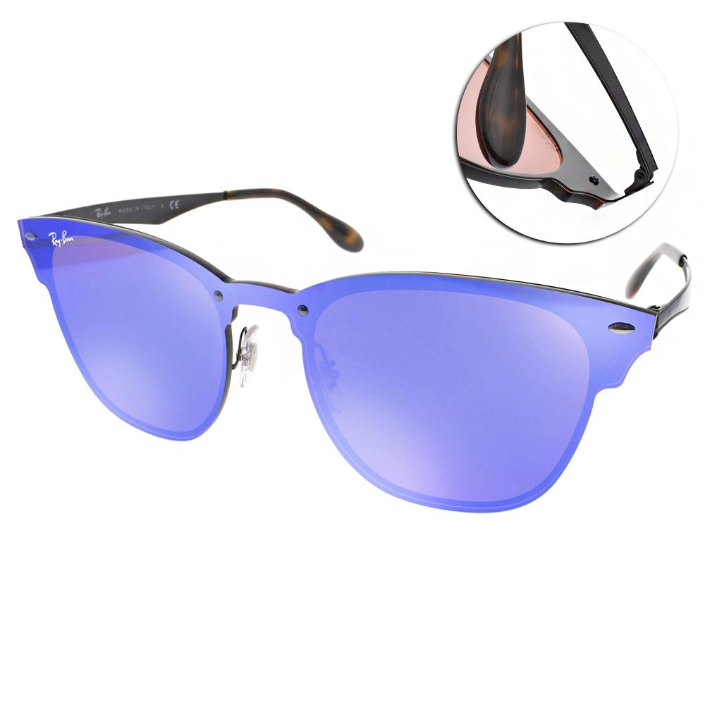 RAY BAN太陽眼鏡 經典品牌/藍-水銀鏡面#RB3576N 1537V