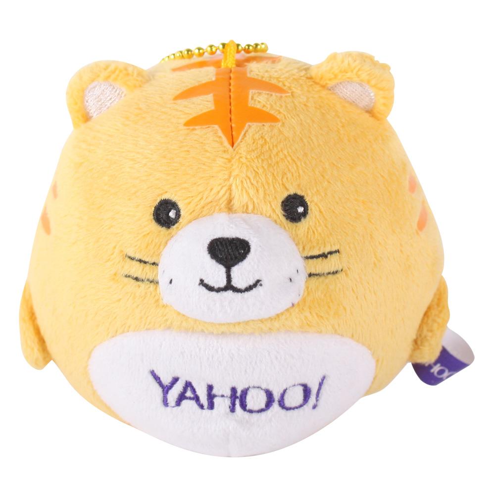 Yahoo 圓滾滾掌心毛絨錄音公仔。阿虎