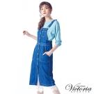 Victoria 真二件長袖線衫-女-淺霧綠