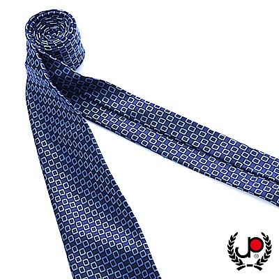 極品西服 100%絲質義大利手工領帶_方格藍(YT5063)