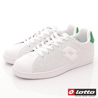 Lotto樂得-1973經典網球鞋-SI665白綠(男段)