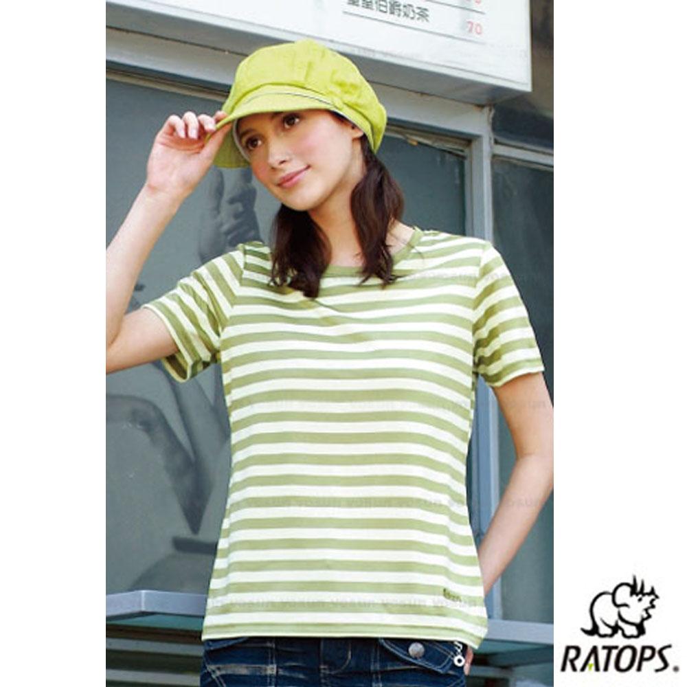 【瑞多仕-RATOPS】女 Coolmax 條紋休閒衣_DB7912 芥末黃/淺黃