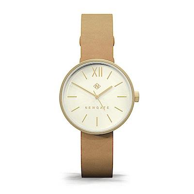 Newgate-ATOM-香檳棕-皮革錶帶-32mm