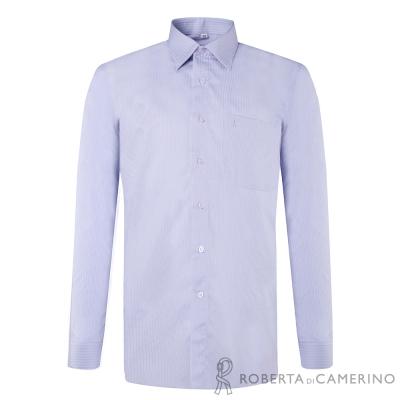 ROBERTA諾貝達 台灣製 嚴選穿搭 簡約條紋長袖襯衫 淺紫